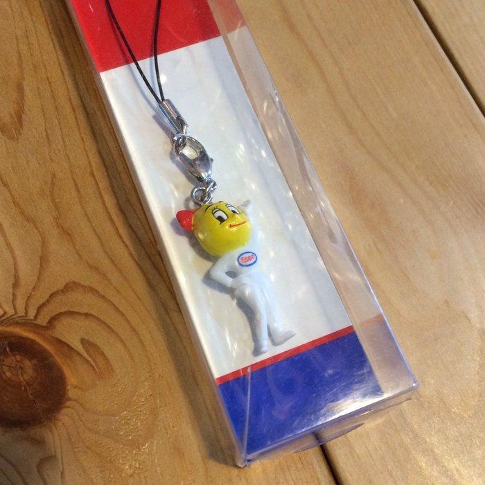 (I LOVE樂多) 經典美式老牌ESSO埃索少女版油滴人造型 手機吊飾 掛飾