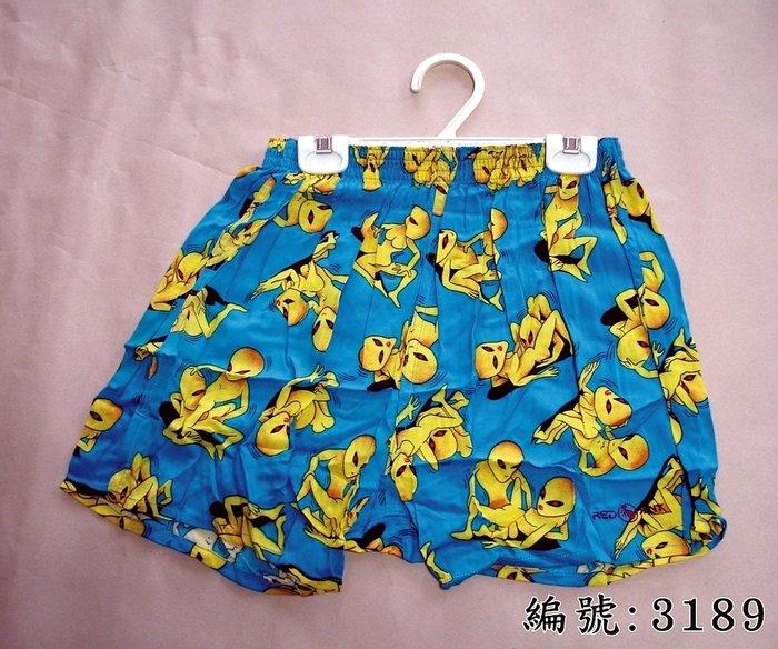 短褲台灣製紅螞蟻平口褲100% 高級棉-編號 3189