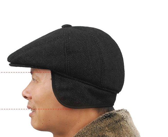 NYCT 韓國連線熱賣限定原創 高品質訂製 歐美百搭時尚必備款老人帽子男冬季羊毛呢帽男中老年貝雷帽男加棉鴨舌帽男