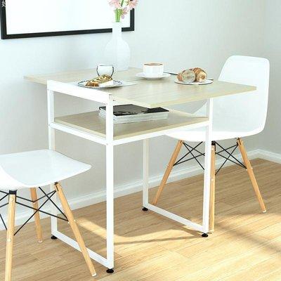 好物多商城 简约现代笔记本家用电脑桌台式书桌可折叠两用小户型餐桌