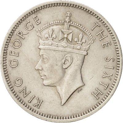 1948 年 喬治六世 英屬 馬來亞 Malaya 馬來西亞 婆羅洲 海峽 殖民地 20分 20 cents 古 錢幣