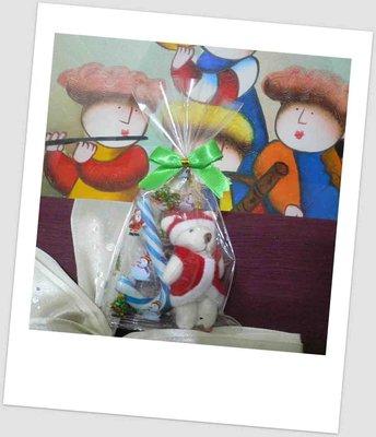 需自行包裝~聖誕節派對熊+拐杖糖+蝴蝶結包裝袋~結婚禮小物婚宴囍糖二次進場送客禮贈品情人節來店禮周年慶生分享禮迎賓滿額禮
