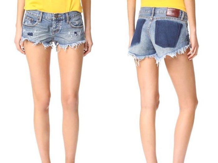 【MJS BOUTIQUE】One Teaspoon 歐美好萊塢時尚水洗單寧破褲 / 短褲 / 牛仔褲