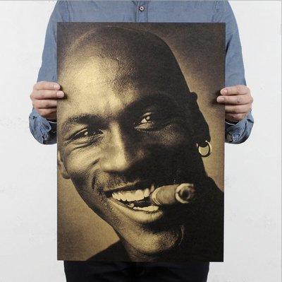 【貼貼屋】NBA Jordan 喬丹大帝 喬丹 23 公牛隊 籃球 懷舊復古 牛皮紙 海報 壁貼 999