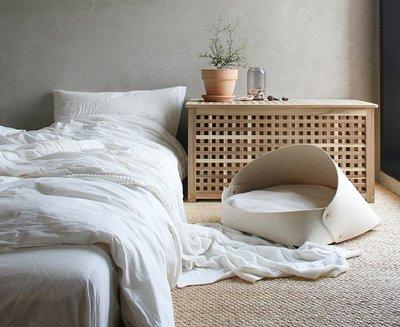 家裡的小怪獸   CATSCITY北歐風可拆洗毛氈貓窩四季通用半封閉網紅保暖貓床送墊子