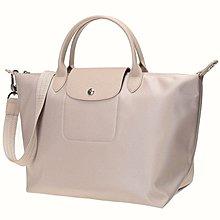 現貨正品 粉色Longchamp neo 加厚款中號水餃肩背手提包