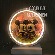 LED枱燈- Mickey & Minnie 復古版 保鮮花燈