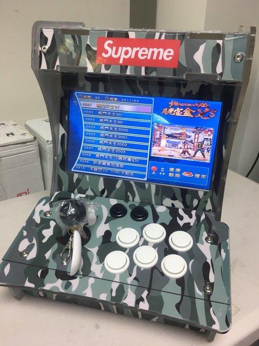 里歐街機全台最低價+專業店家保固 雙人對打街機 月光寶盒XS 內建1500款遊戲 可2P雙打 雙畫面 10吋液晶螢幕