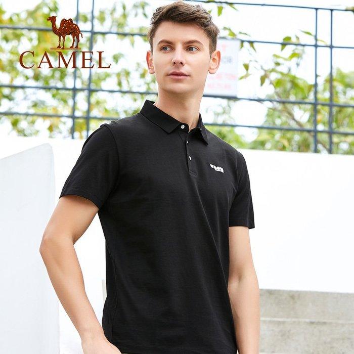 時尚服飾Camel駱駝夏季短袖圓領T恤/POLO衫新品男男士戶外休閑T9S273187