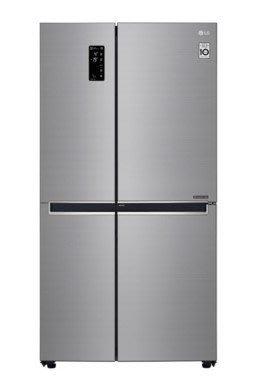 LG 樂金 《GR-DL88SV》 821公升 直驅 變頻WiFi門中門時尚對開冰箱/星辰銀
