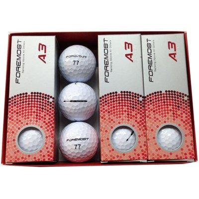 ┌喻蜂高爾夫┐新包裝 FOREMOST SUPREME A3 高爾夫球(3層球) 白色 台灣製 現貨