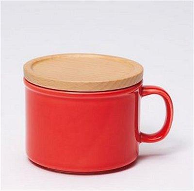 日本 ideaco canister mug 馬克杯/食物罐 -  耀眼紅 (S)