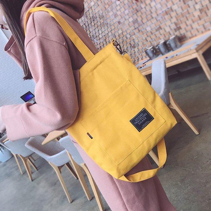 (RD-5601)韓國原宿帆布包單肩斜包購包袋
