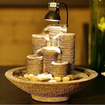 5Cgo【宅神】含稅會員有優惠528009434522 歐式流水噴泉開業客廳辦公室家居裝飾工藝品風水擺件結婚禮物擺件擺設