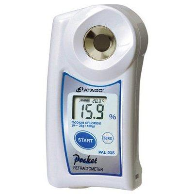 TECPEL 泰菱》鹽度/鹹度計 日本 ATAGO 愛宕 PAL-03S 數位袖珍型 防水/自動溫度補償~公司貨