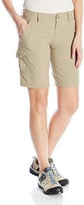 美國 Columbia 女生 防曬 快乾 戶外 運動 輕薄 透氣 多口袋 短褲 黑色 10號 Omni-Shade Omni-Wick