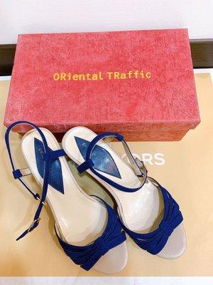 專櫃ORiental TRaffic涼鞋(寶藍37號)