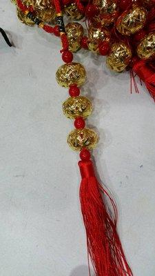 年貨春節中國結--簍空金球//金元三寶掛飾