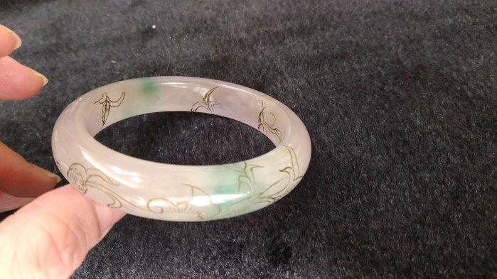 古典藝術手環~冰種緬甸玉可約看實品