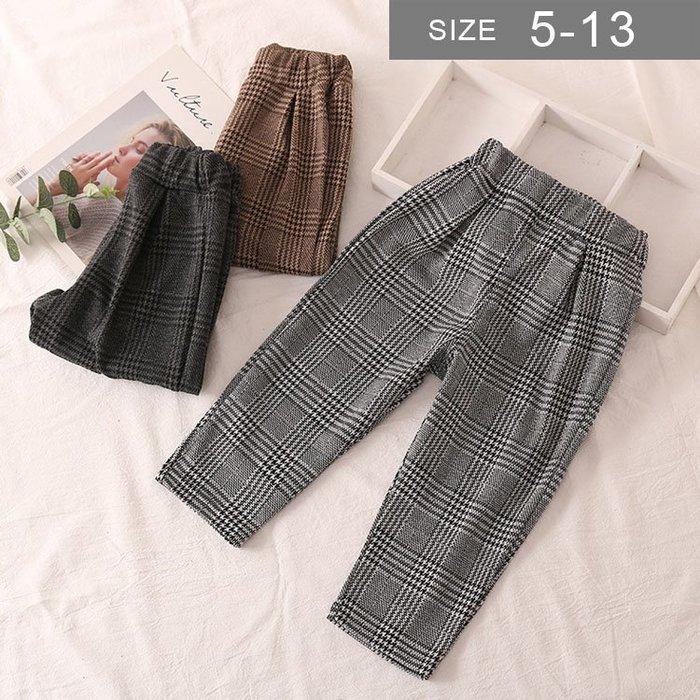 韓版男女童格子長褲。ROUROU童裝。春秋男女童中小童格子長褲 0232-448