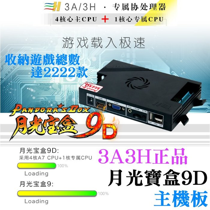 【台灣現貨】3A/3H正品 月光寶盒9D 主機 總數2222款遊戲《一年保固價》#潘多拉 潘朵拉 樹莓派