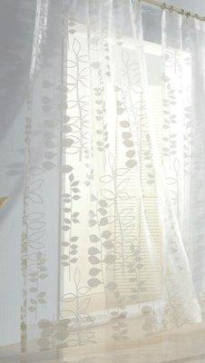 台中窗簾-雅式多窗簾布~無接縫窗紗~樹葉攀藤~每呎300-520元特價中《台中市免運費》