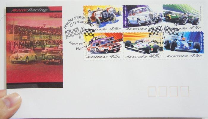 出清特賣 - (全新) 2002年-澳洲-Motor Racing 賽車主題-首日封
