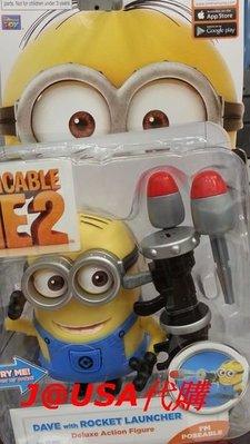 美國正版神偷奶爸藥丸小小兵Despicable Me 2 Dave公仔可動發射玩偶~現貨出清特賣
