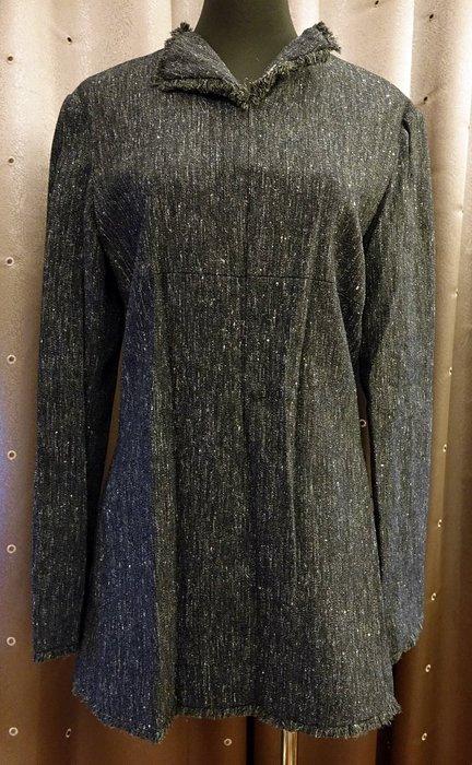 全新 義大利製造設計師名牌 SISI 100% 羊毛長上衣,賣場有同款窄裙喔!高質感與剪裁,盡顯您的獨特品味!免運費!