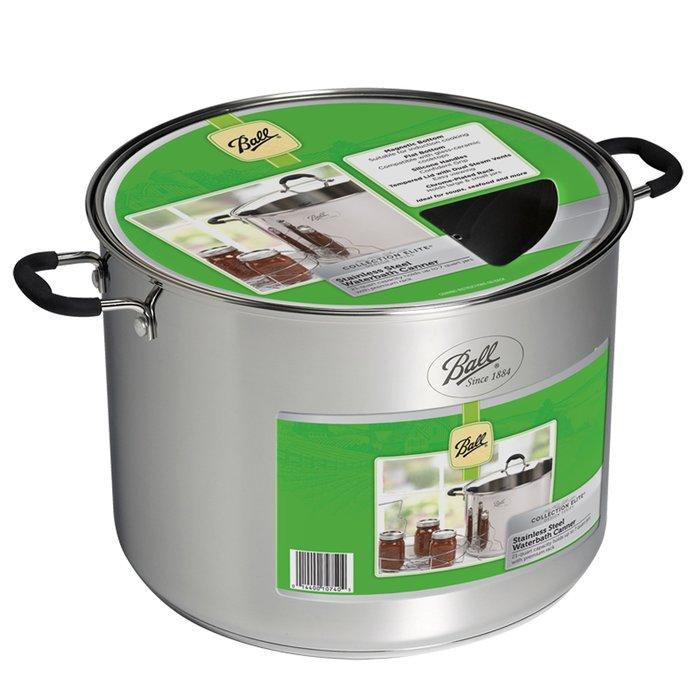 【激安殿堂】Ball 不鏽鋼鍋附網架『21公升』 (湯鍋、廚房鍋具、消毒鍋)