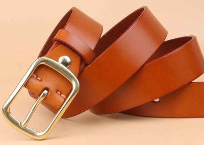 『老兵牛仔』TB7788復古真皮純銅扣休閒皮帶/頭層牛皮/復古/彈力/耐拉/個性