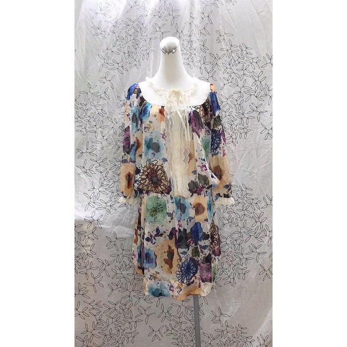 《iROO》美洋裝 近新 全絲質 秋冬美衣上架 詳閱敍述 實拍