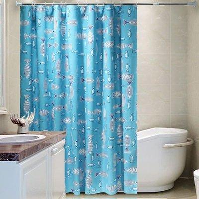 免打孔浴簾套裝加厚防水防黴浴簾布浴室隔斷簾窗簾掛簾衛生間浴簾