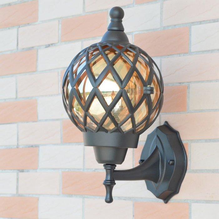 Europ 小號 室外防水壁燈 花園 歐式 中式簡約 庭院美式 客廳過道陽臺戶外 走廊燈 壁燈 E27 110-220V