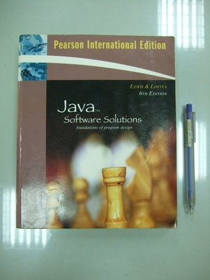 A1-4☆2009年『Java Software Solutions 6/e (附光碟)』Addison-Wesley
