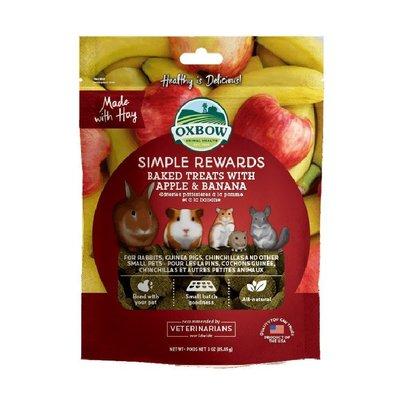 SNOW的家【訂購】Oxbow 輕食美味系列 香蕉蘋果牧草烘焙零食 85g (80032726