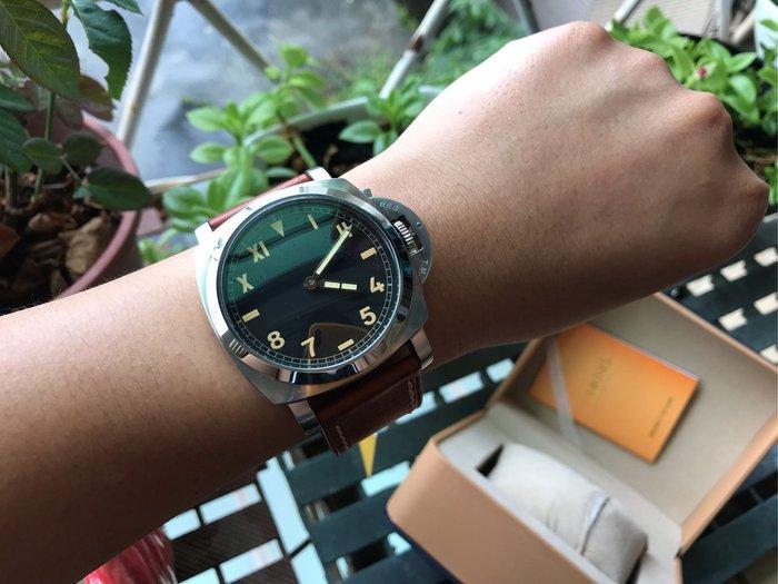 【六樓先生】  Marina Militare 47mm 大錶徑  加州面 手上鍊強夜光機械錶