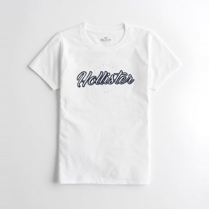 【HOLLISTER Co.】【HCO】HC女款短袖T恤藍框白草字白 F07191118-73