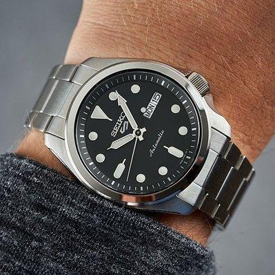 【全新原廠SEIKO】4R36鋼帶機械錶【原廠精裝盒原廠保證書】【超低價有保固】【天美鐘錶店家直營】SRPE55K1