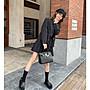 H小姐愛亂買-獨家高級感 新款25cm Birkin頭層牛皮時尚黑色金扣迷你鉑金包潮Bolide Picotin包