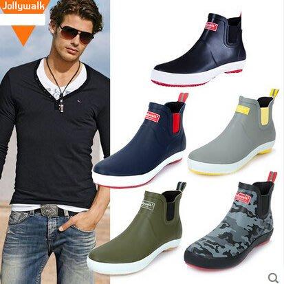 雨鞋男短筒低幫雨靴水鞋膠鞋男士女士式套鞋防水防滑秋冬保暖時尚