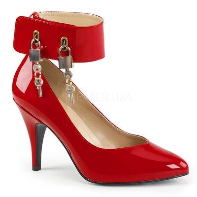 Shoes InStyle《四吋》美國品牌 PINK LABEL 原廠正品漆皮鎖頭高跟包鞋 有大尺碼 出清『紅色』