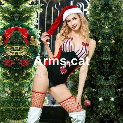 【Arms cat】情趣外貿原單內衣情趣制服絲絨圣誕裝連體衣性感成人