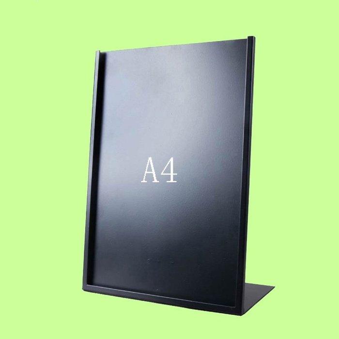 5Cgo【含稅】廣告牌桌牌不鏽鋼價格牌專櫃台牌A3海報架子POP展示架黑色A4含亞克力板16209415507