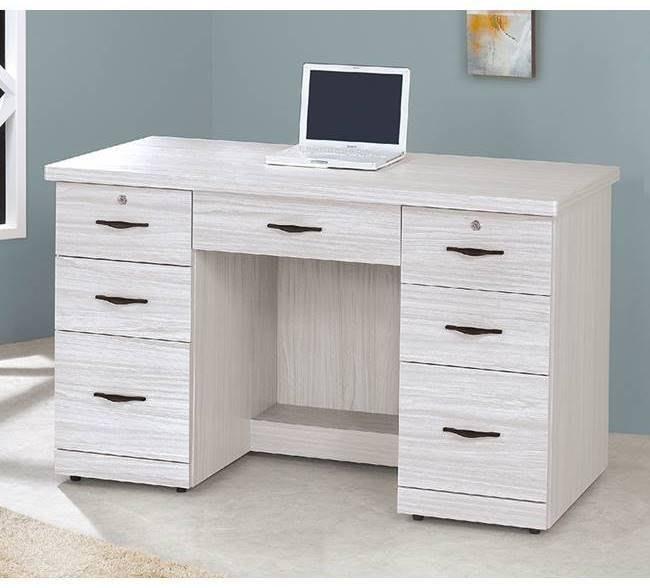 【DH】貨號A585-3名稱《密卡登》4.2尺書桌(圖一)備有3.5尺.電腦桌.可選.台灣製.可訂做.主要地區免運