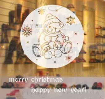 小妮子的家@聖誕小熊 壁貼/牆貼/玻璃貼/磁磚貼/汽車貼/家具貼