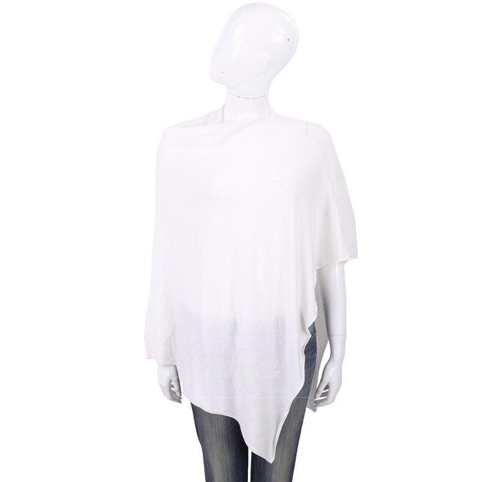 米蘭廣場 ALLUDE 喀什米爾白色羊毛罩衫 1740234-20