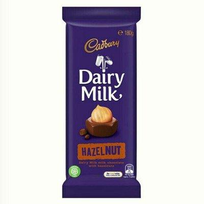 吉百利 Dairy milk Hazel nut 榛果 巧克力/1片/180g