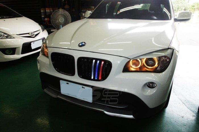 CS車宮車業 外銷品 水箱罩 台灣製造 獨家販售 BMW X1 E84 亮光黑 三色光 EA-G0230-A1-L
