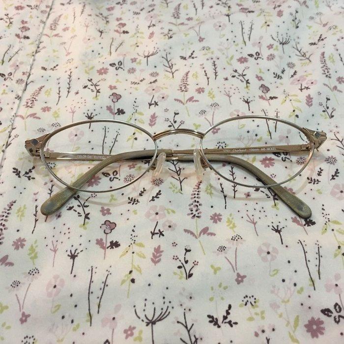 。☆二手☆。日本Charmant女款鈦金全框眼鏡鏡框//原價ㄧ萬多